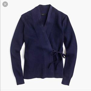 JCrew kimono sweater SZ M navy excellent condition